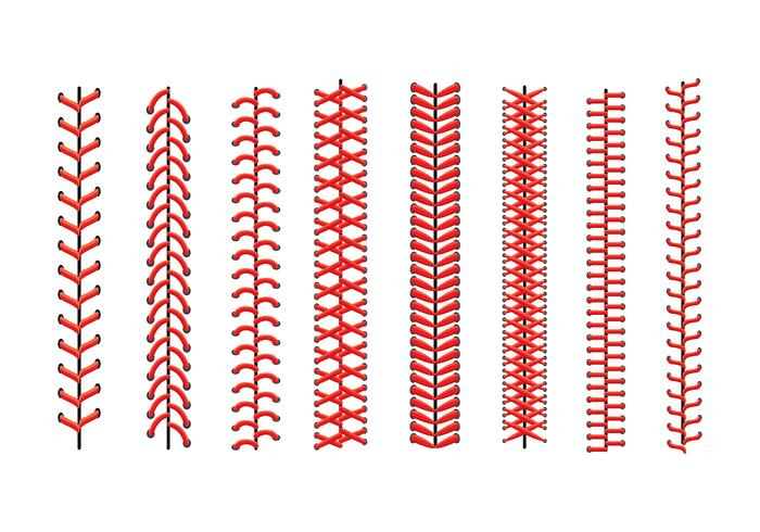 Icone di pizzo da baseball vettore