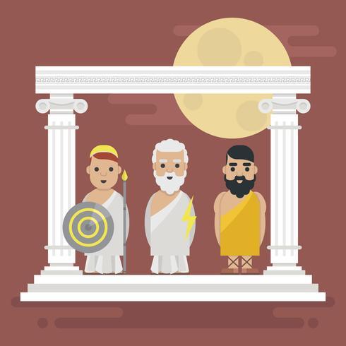 Ilustração de personagem de mitologia de Hércules