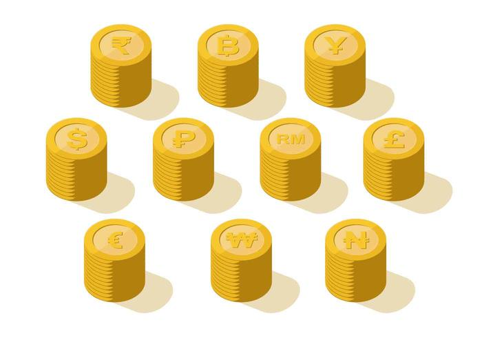 Currency Coin Collection Vector