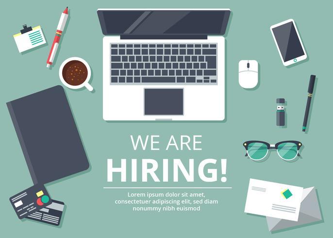 Ilustración de contratación de empleos vector