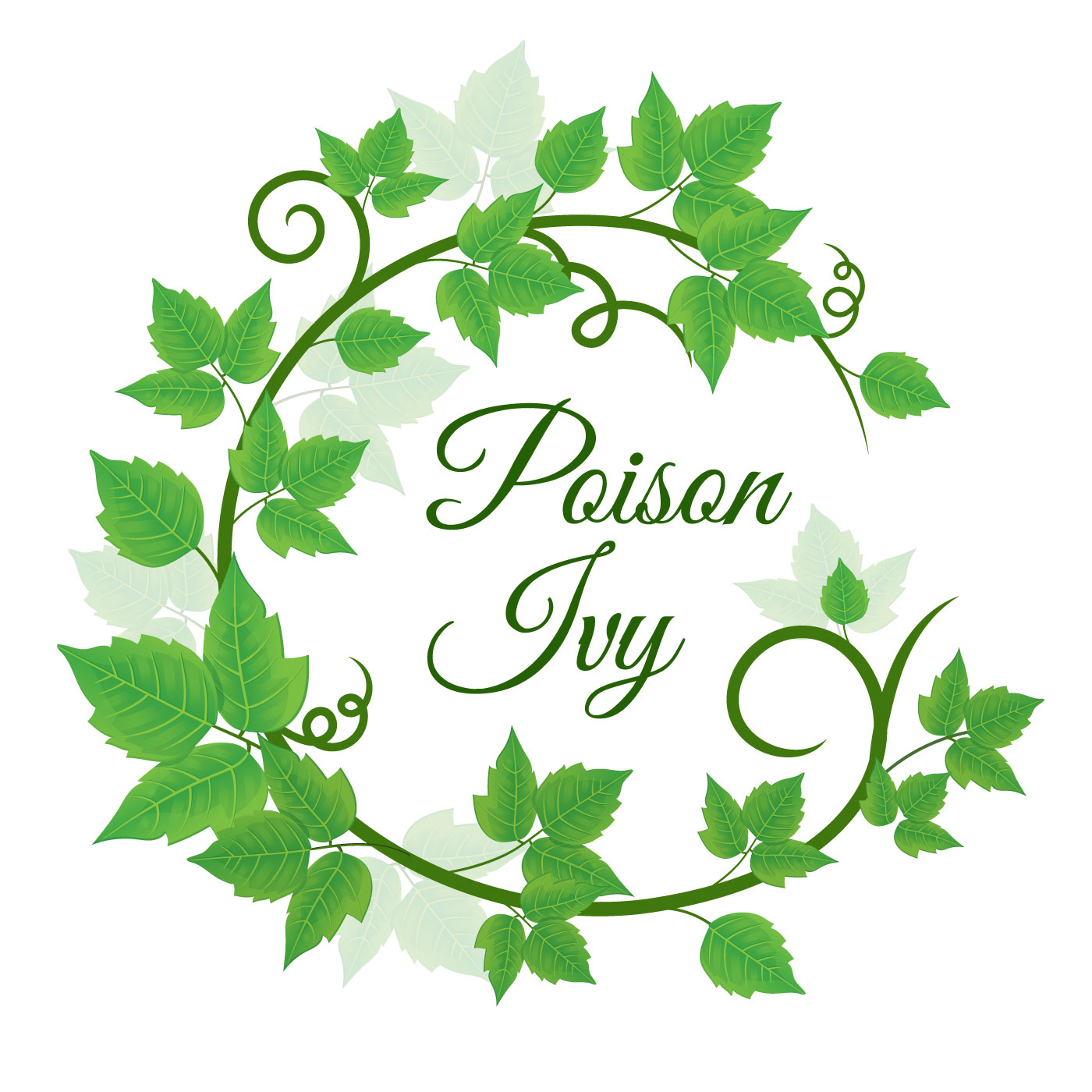 Green Poison Ivy Leaf Wreath Background Download Free
