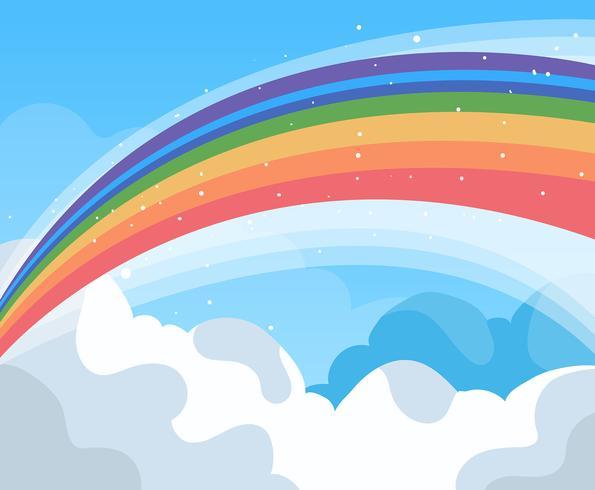 Vetor de fundo do arco-íris