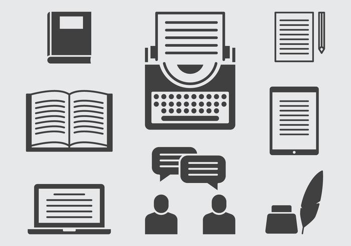 Storytelling Icons vector