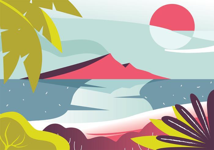 Conception de vecteur de paysage tropical