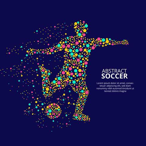 Abstrakt Soccer Player Vector