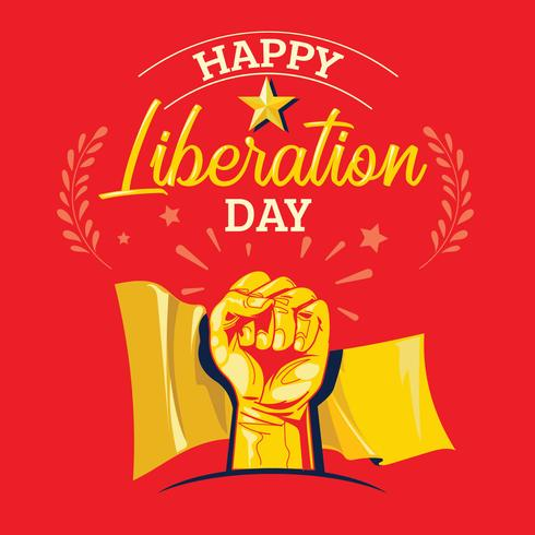 Happy Liberation Day Illustration