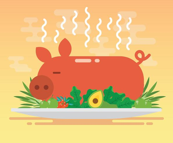 Schweinebraten Illustration