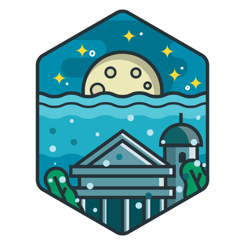 Vackra City of Atlantis Badge