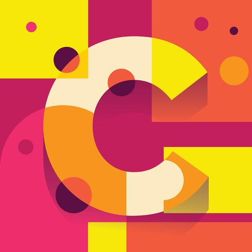 Letter C Typography Illustration