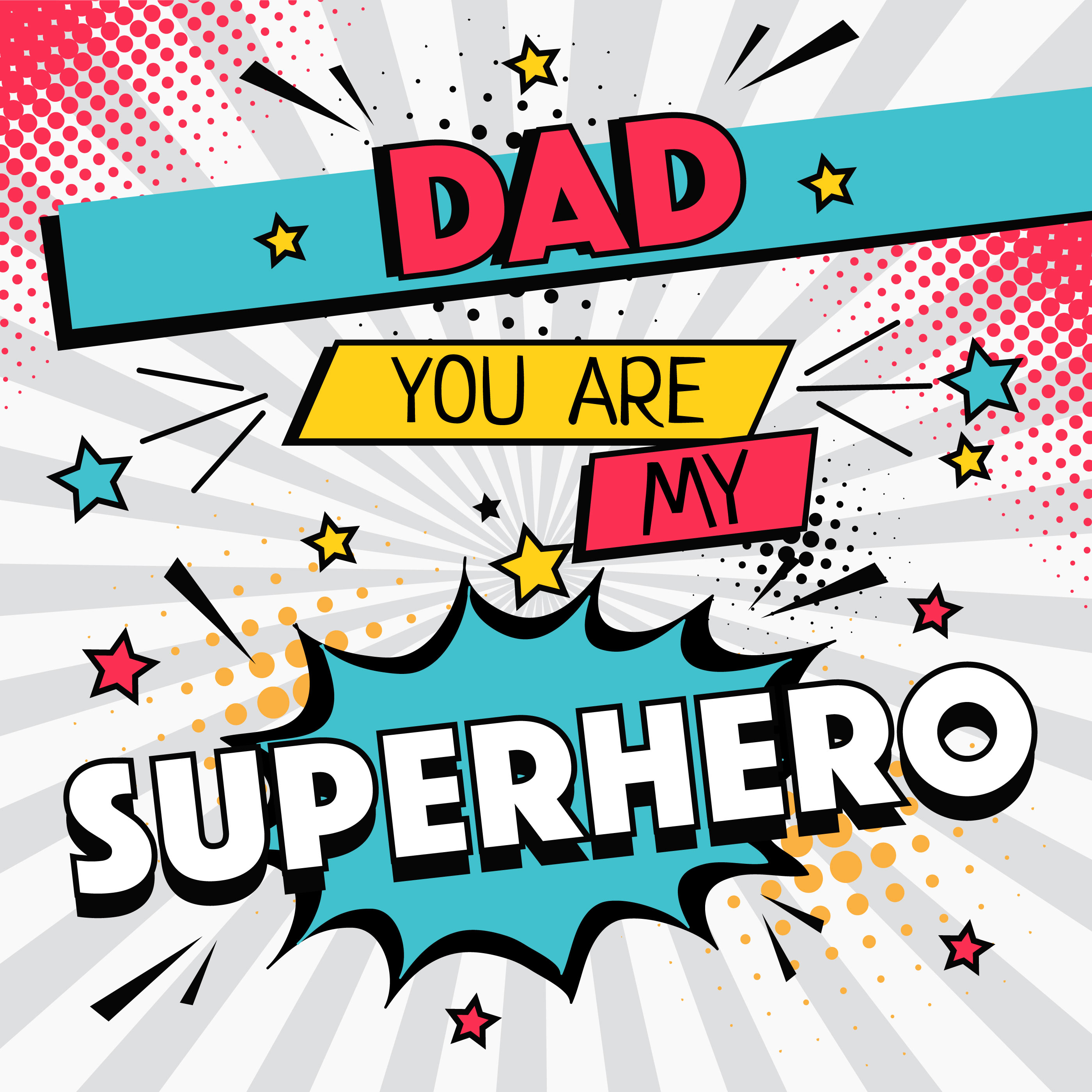 Download Superhero Dad Typography Vector - Download Free Vectors ...