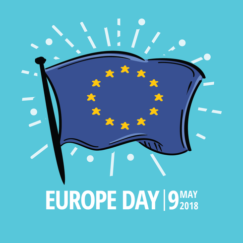 Europe Day Flag vector