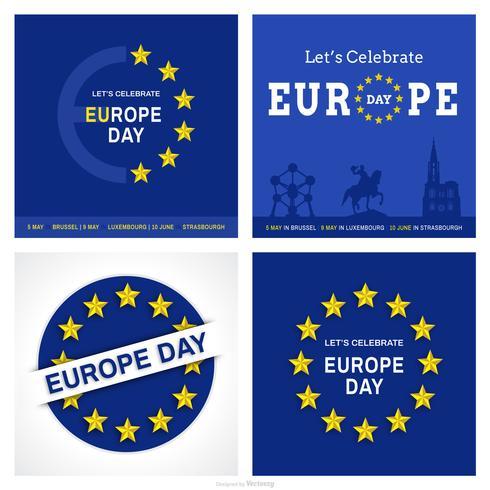 Jeu de cartes Vector Day Europe