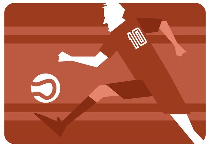 Abstract Soccer Player Vector