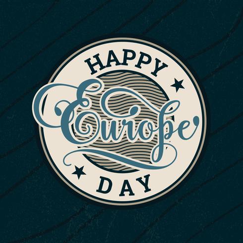 Tipografia do Dia da Europa
