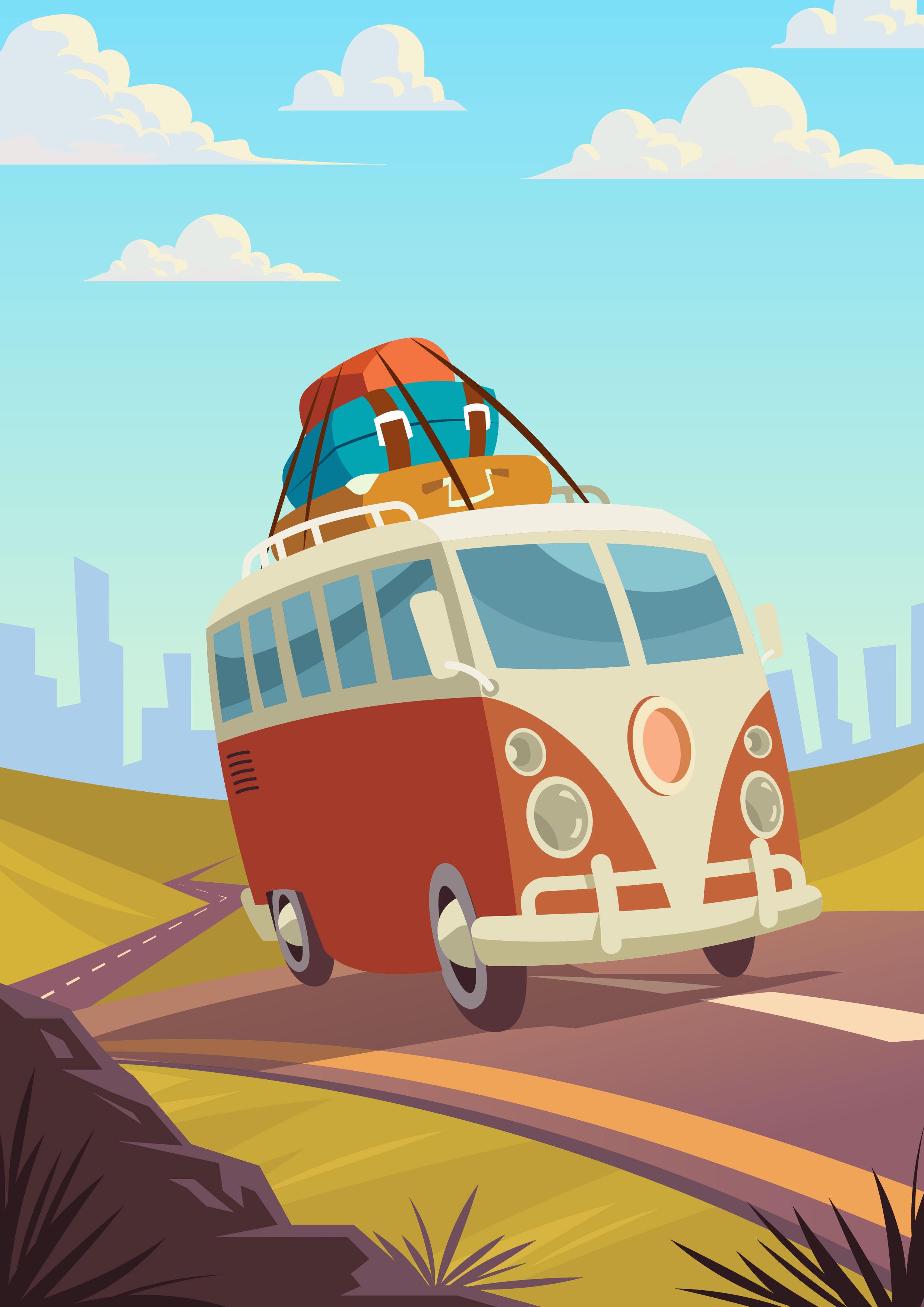 Road Trip Free Vector Art - (21,399 Free Downloads)