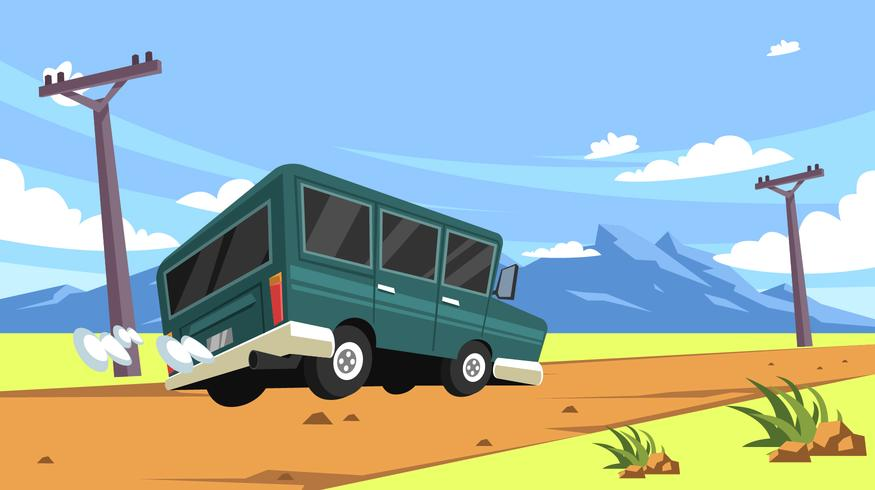 Paisaje Dirt Road Trip Vector