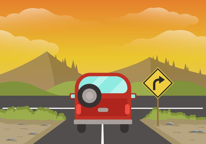 Road Trip Background Illustration