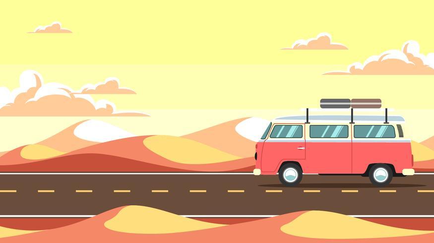 Desert Road Trip Vector