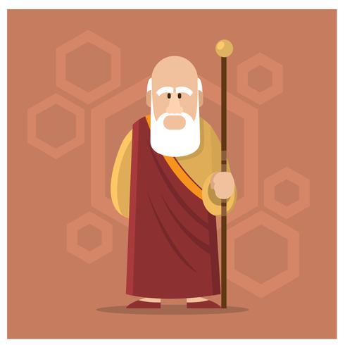 Personagem de guru masculino