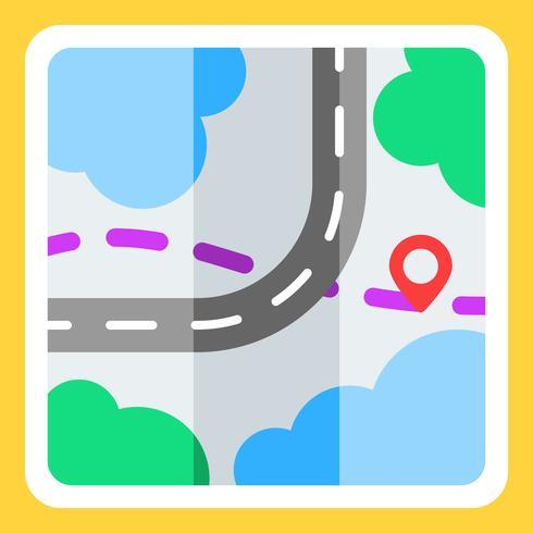 Road Map Illustration vector