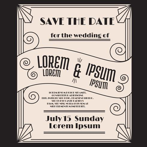 Art Deco Save The Date Download Free Vector Art Stock Graphics