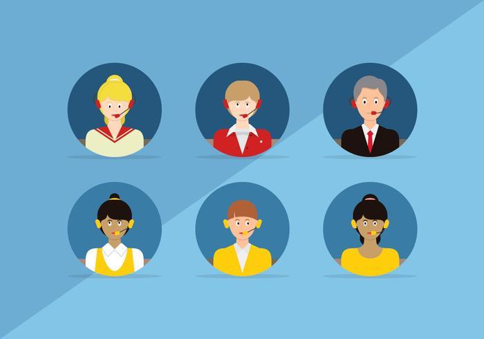 Avatares de Personagem de Atendimento ao Cliente