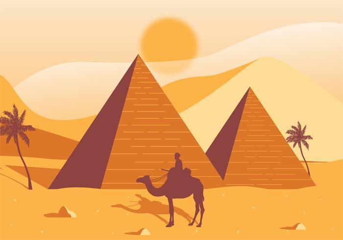 Disegno di vettore di piramidi di egitto scarica gratis arte