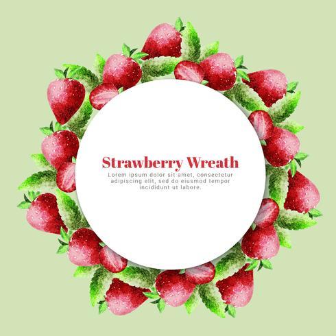 Vector Strawberry Wreath