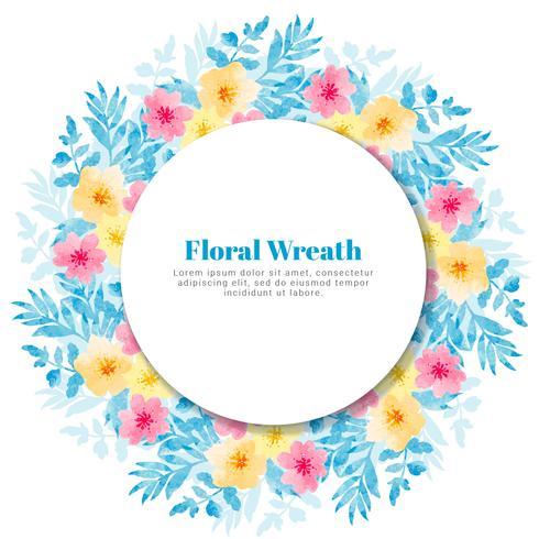 Guirnalda floral del vector