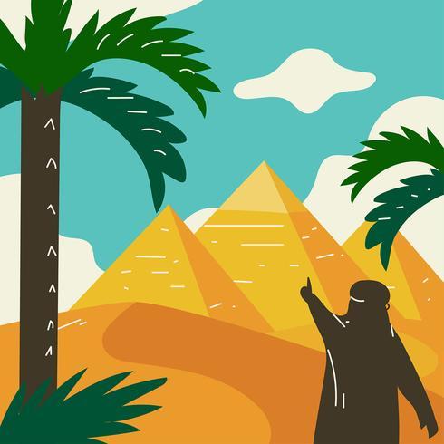 Pirâmides do vetor do Egito