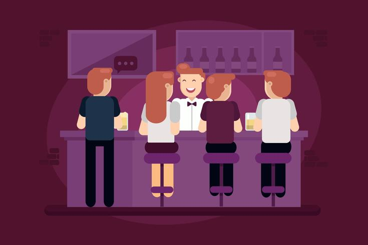 Crowded Bar Vector
