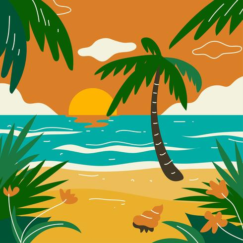 Tropical Landscape Beach