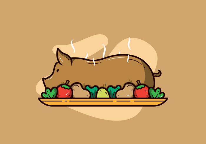 Schweinebraten-Vektor