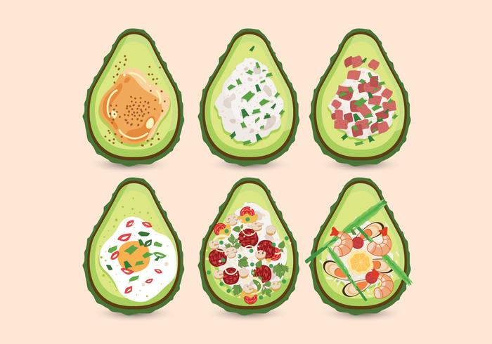 Avocado-Nahrungsmittelrezept-Vektor