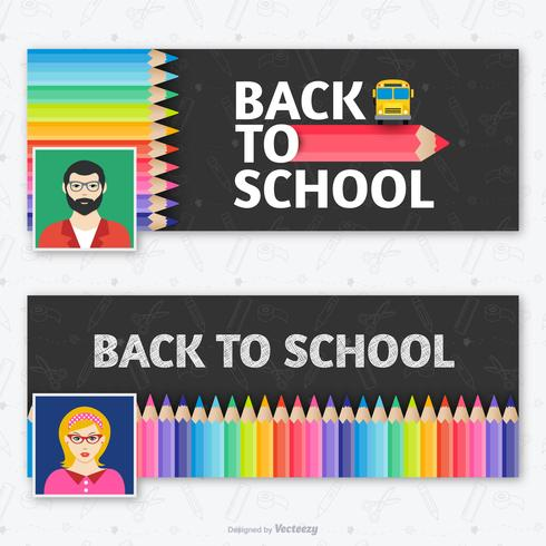 Teacher Facebook Cover Template Vector Set