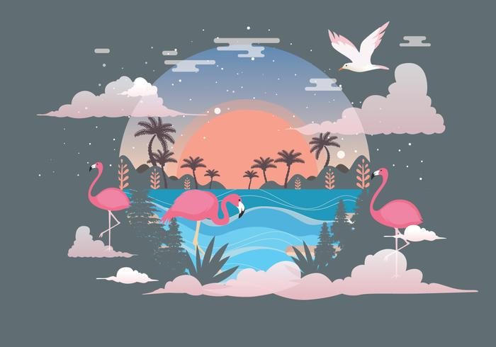 Paysage tropical Vol 3 vecteur