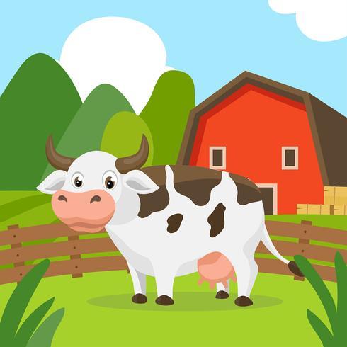 Vecteur de dessin animé de bétail