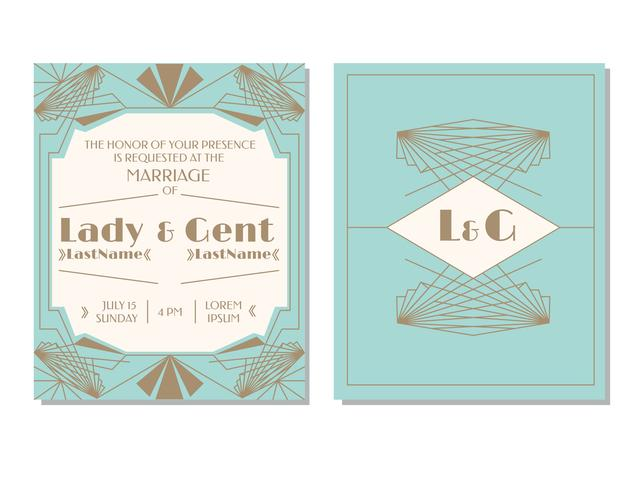 Art deco wedding invitation vector download free vector art stock art deco wedding invitation vector stopboris Image collections