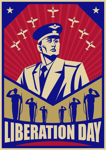 Liberation Day Vintage Poster