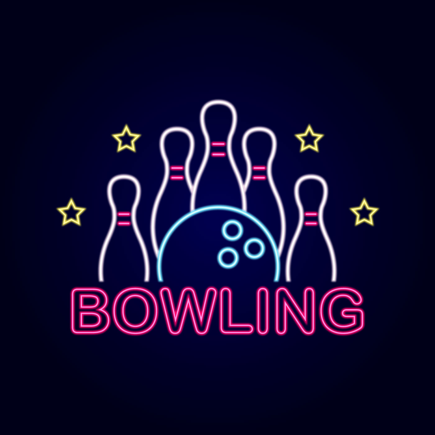 Neon Bowling Sign - Download Free Vectors, Clipart ...