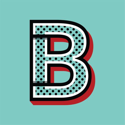 Letra B Estilo Pop Art vetor