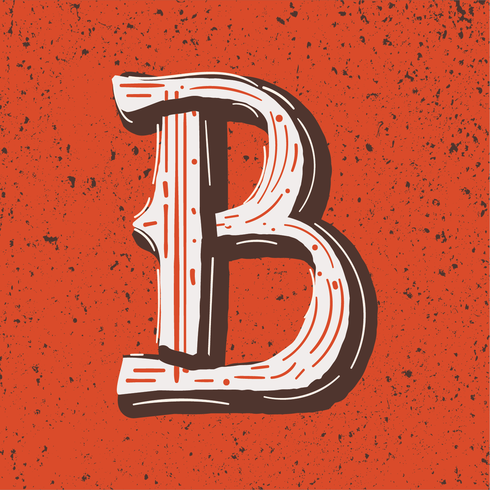Letter B Grunge style