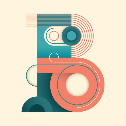 letra B tipografía vector