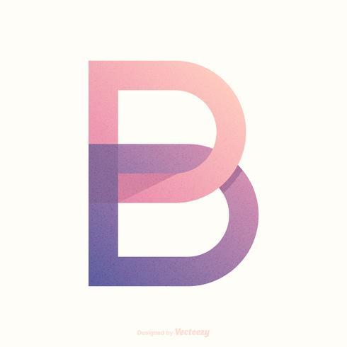 Disegno di vettore di tipografia della lettera B di logo