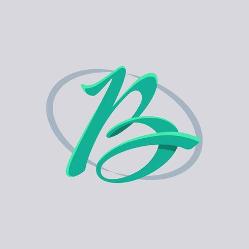 Letter B Typography Vector