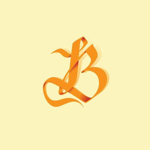 Buchstabe B Typografie-Vektor