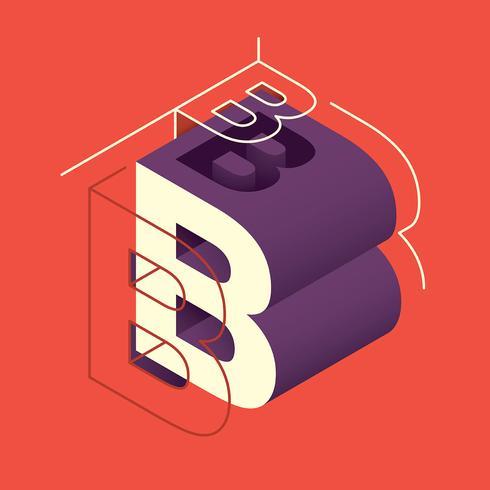 Buchstabe B Typografie