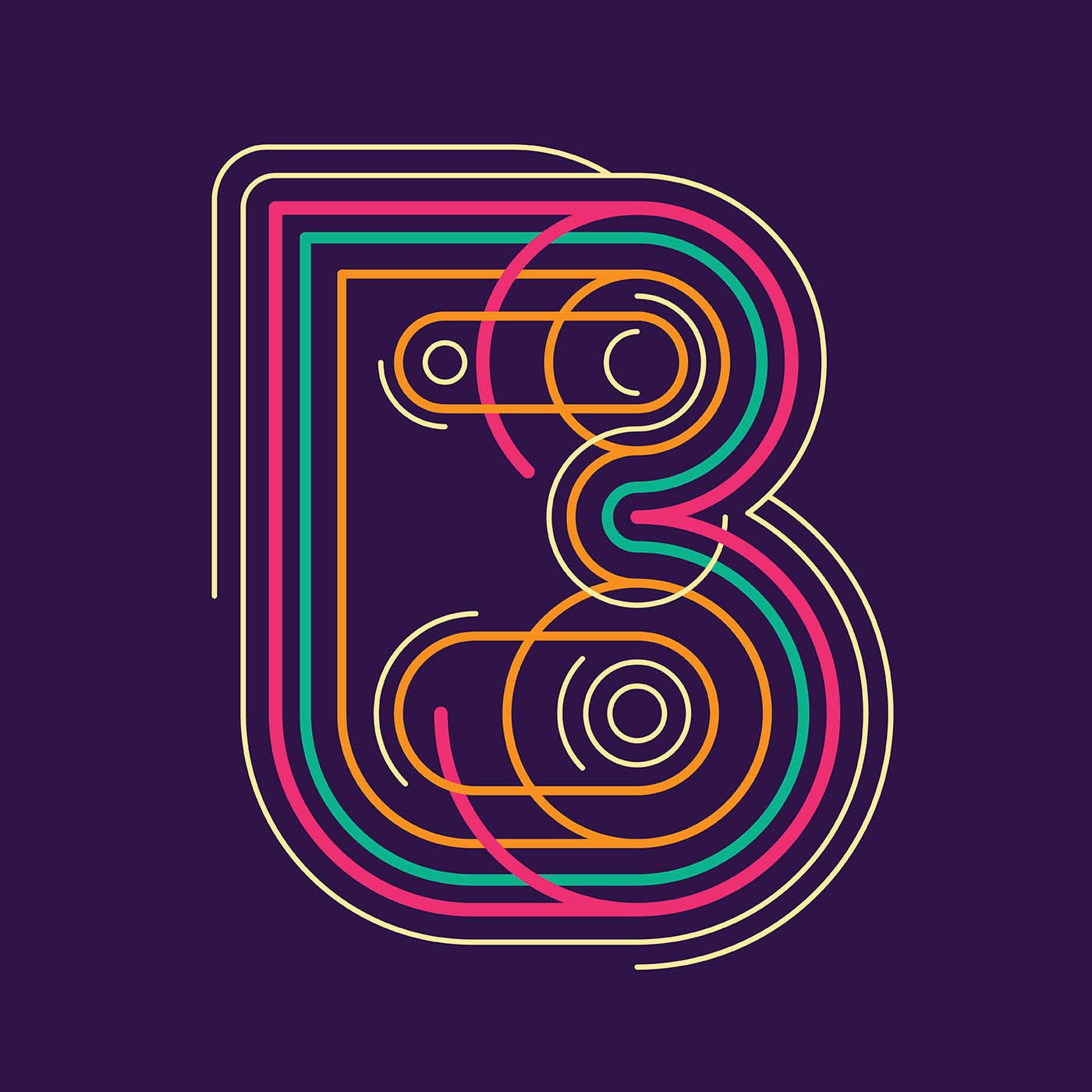 letter-b-typography-vector  D Letter L Template on cut out, printable box,