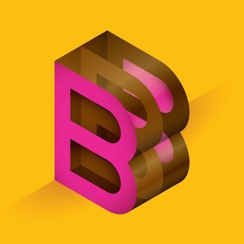tipografia da letra B