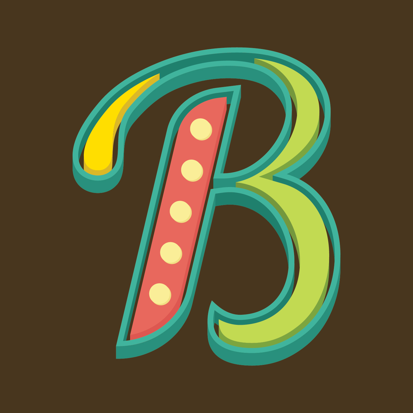 vector-letter-b-typography Abc Template Capital Letters on